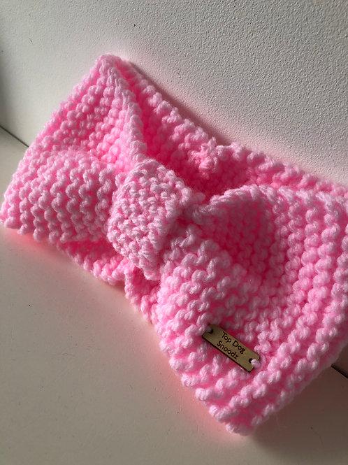 Pastel Pink ear warmer