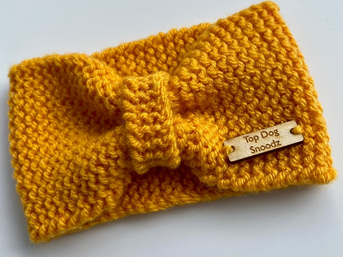 Mustard bunched snoods