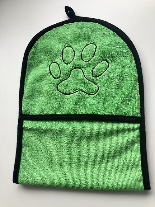 Green drying mittens