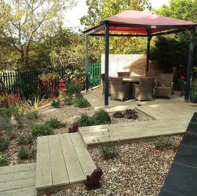 Composite Deck Garden