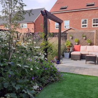 Small New Build Garden