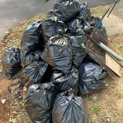 Trash from Matapeake Pier Oct 2019