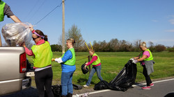 Volunteers hard at work on Earth Day