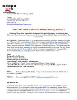 Bag Ban Rally Media Advisory - 2.2.21