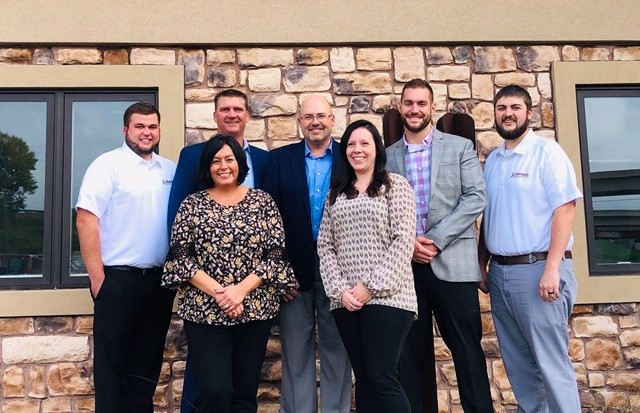 President & CEO Jim Scherrer with the Wausau office team