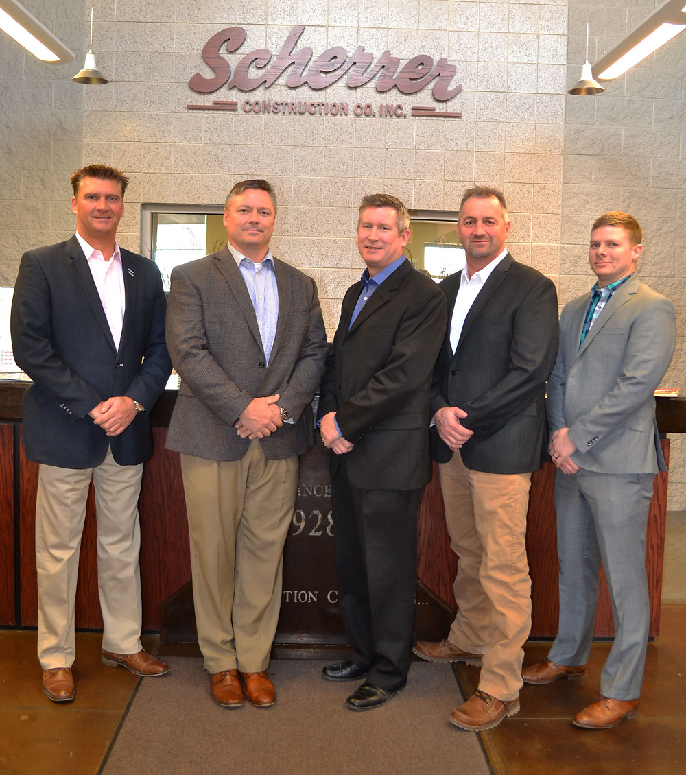 Scherrer Owners from left to right: Jim Scherrer, Ben Templin, Joe O'Neill, Joe Ehlen, and Steven Richard