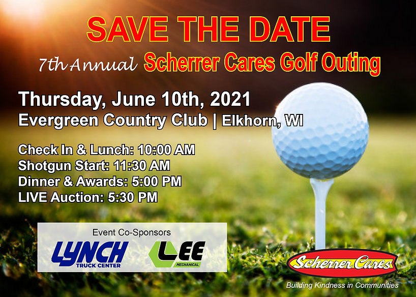 2021 Scherrer Cares Golf Outing SAVE THE