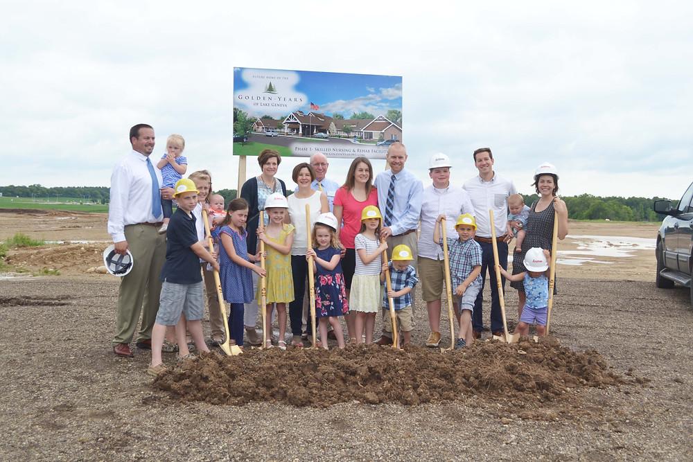 Owners Rich & Linda Austin with their children and grandchildren.