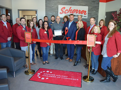 Scherrer Celebrates New Wausau Office with Ribbon Cutting