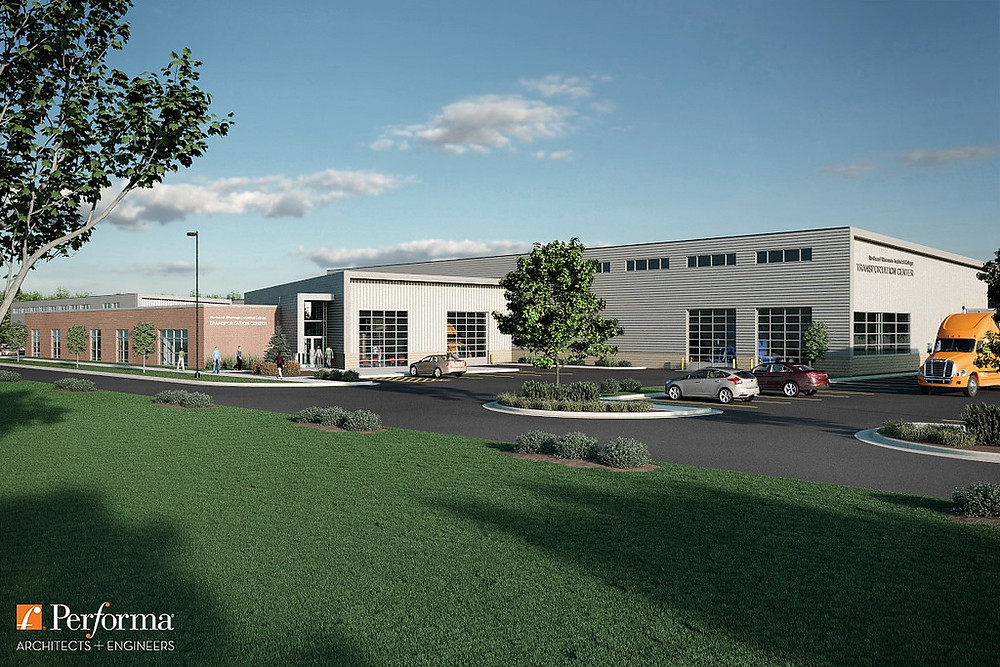 Rendering of the NWTC Transportation Center
