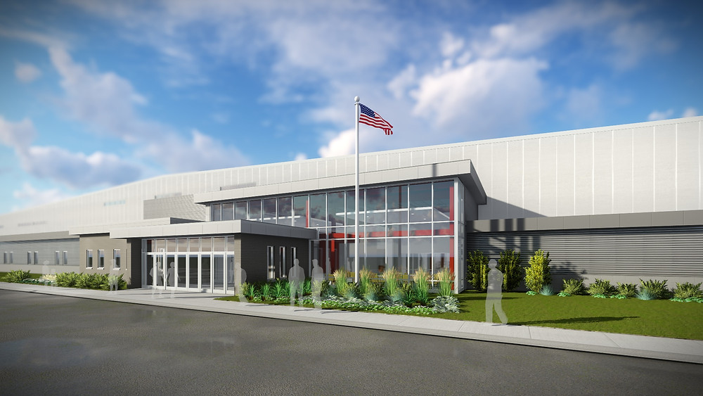A rendering of the Marinette Community Event Center and Sports Complex