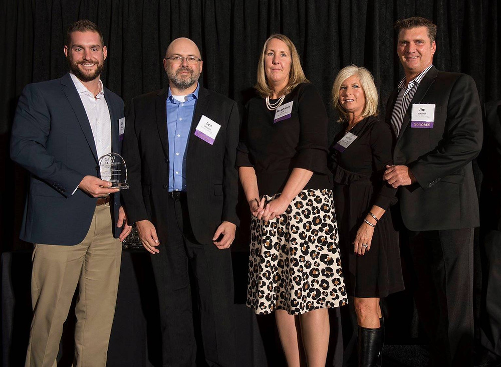 Several Scherrer employees from both offices accepted the award