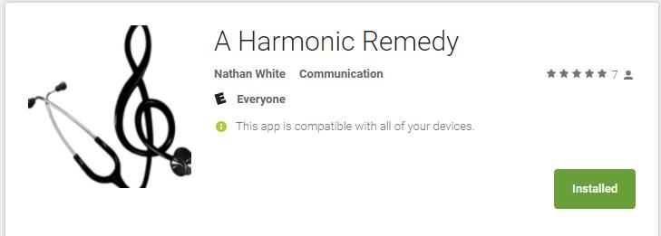 A Harmonic Remedy App!