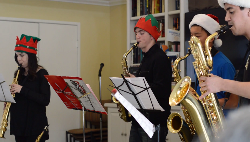 Brookdale Christmas Performance and Interviews
