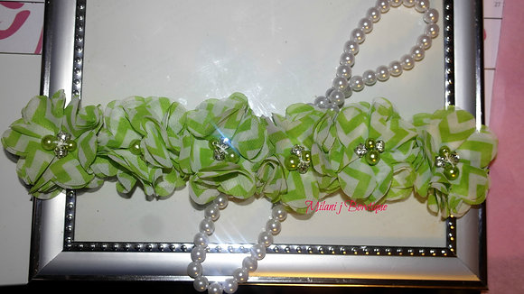 Lime Green Chevron Flower Crown