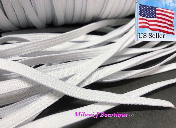 1 yard 1/4 inch 6mm flat elastic for mask making