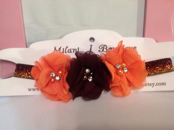 Orange & Brown Flower Crown