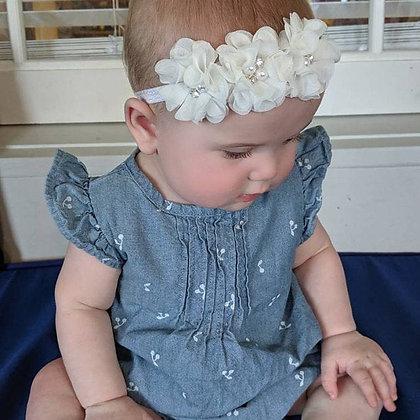 White Flower Crown Headband