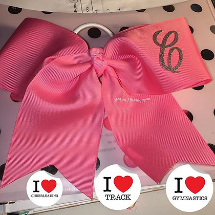 """Monogrammed 6"""" Inch Cheer Bow!"""