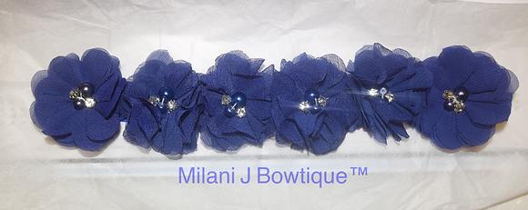 Royal Blue Flower Crown