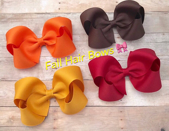 Fall/Autumn/Thanksgiving Hair Bows