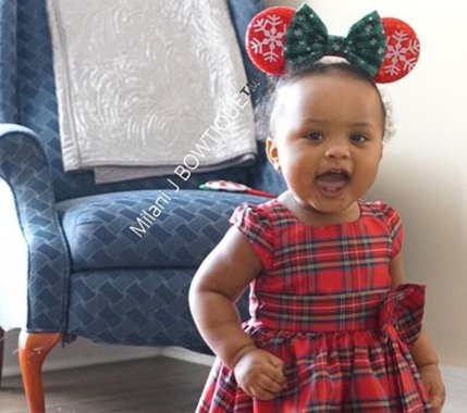 Red Snowflake Minnie Ears