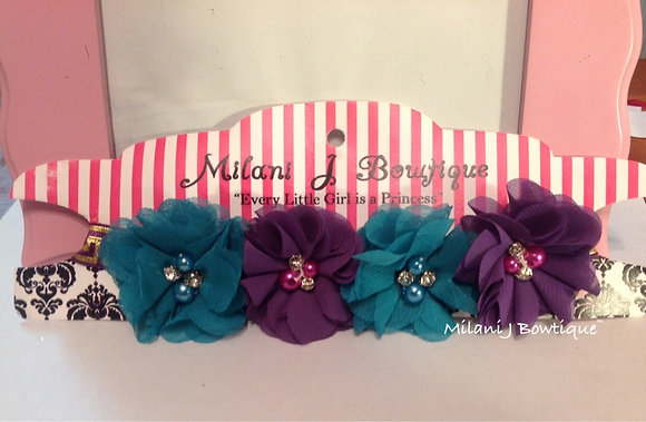 Teal & Purple Flower Crown