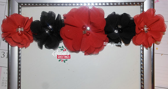Red & Black Flower Crown
