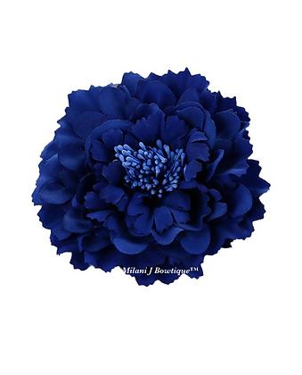 "4"" Sapphire Blue Peony Hair Flower"