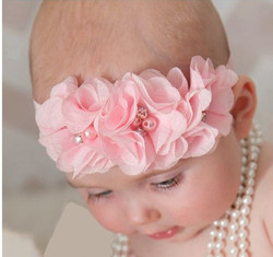 Pink Flower Crown Headband