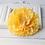 "Thumbnail: 4"" Yellow Peony Hair Flower"