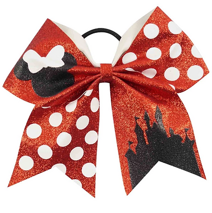 Large Glitter Polka Dot Minnie Mouse Hair Bow 3""