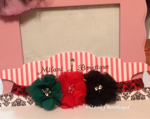 Red Black & Green Flower Crown