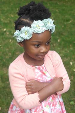 Mint Polka Dot Flower Crown