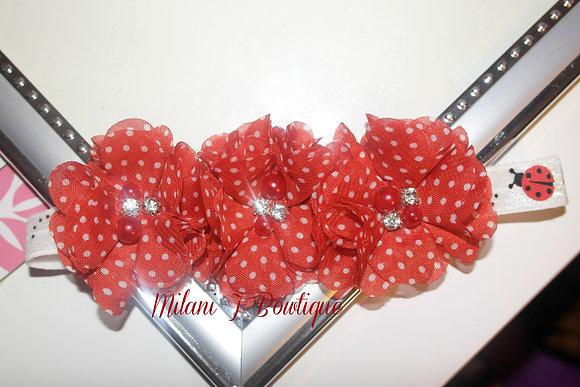 Red & White Polka Dot Flower Crown