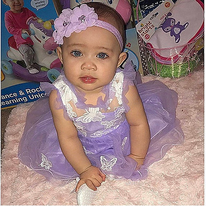 Lavender Flower Crown Headband