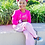 Thumbnail: Hot Pink & Mint Green Polka Dot Flower Crown