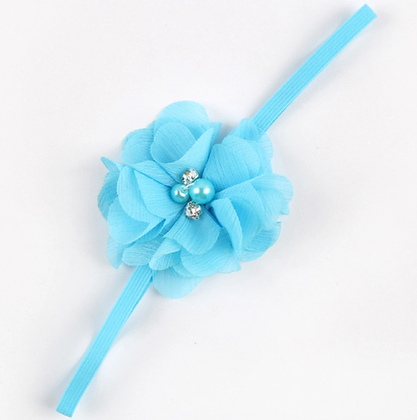 Pearl Rhinestone Flower Headband