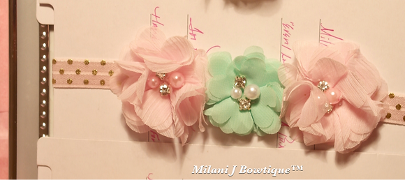 Mint and Pink Flower Crown