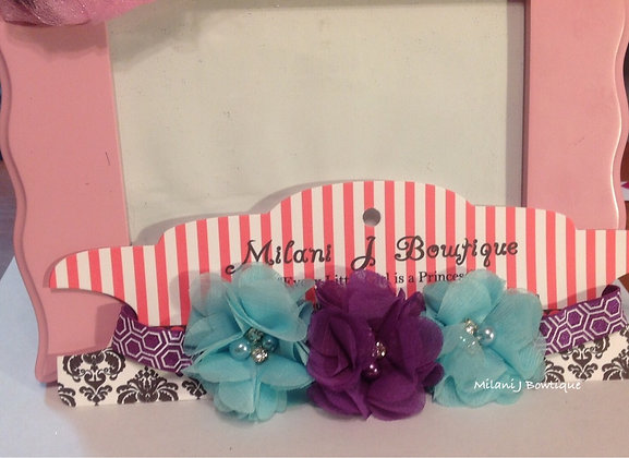 Purple & Sky Blue Flower Crown