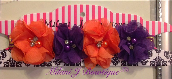 Orange and Purple Flower Crown