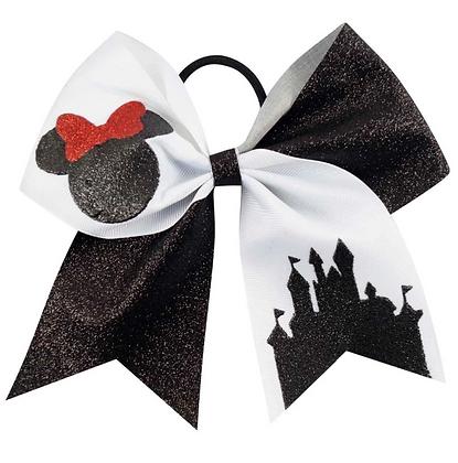 "Minnie Mouse Glitter Hair Bow 3"""