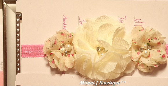 Ivory Floral Crown