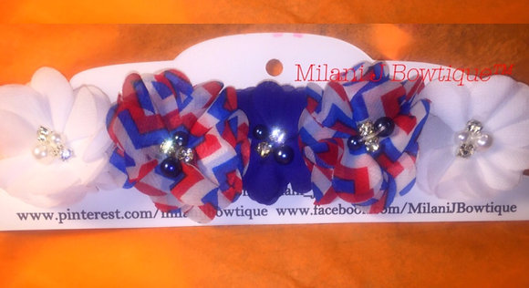 Red, White and Blue Flower Crown