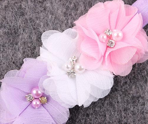Pink, White & Lavender Flower Crown