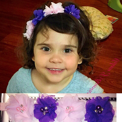Light Pink & Purple Flower Crown