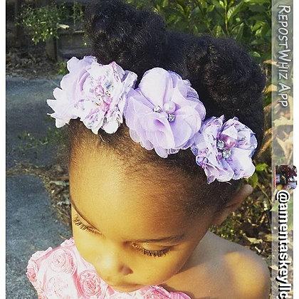 Lavender & Lilac Floral Flower Crown