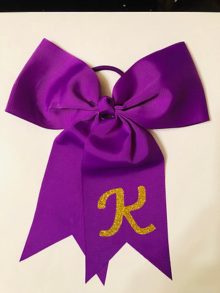 Monogrammed 6 inch Bow for Cheer Leading, Track & Field, Gymnastic