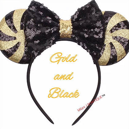 Gold & Black Minnie/Mickey Ears