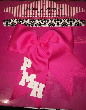 Monogrammed Headband Hair Bow